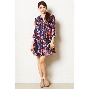 Maeve Caravane Floral Tunic Ruffle Dress